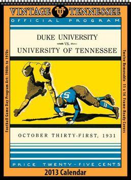Vintage Tennessee Volunteers Football Calendar