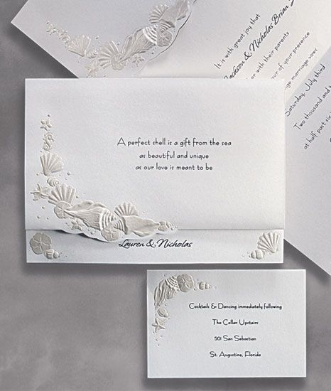 The Beach Wedding Invitations |