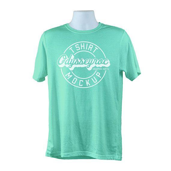 Download Downoad Free Bella Canvas 3001 Mint Green T Shirt Mockup Simple White Psd Free Psd Mockups Mockup Free Psd Clothing Mockup Shirt Mockup