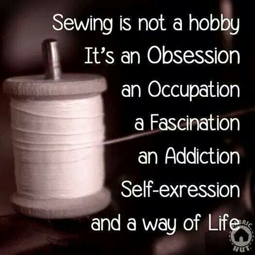 Sewing is...