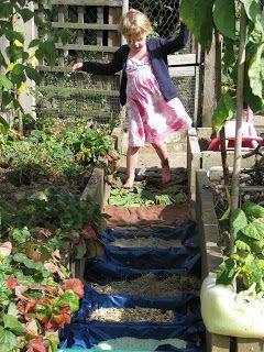 A homemade barefoot sensory pathway