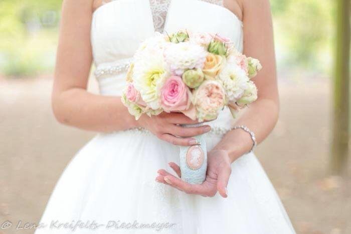 Das war mein Brautstrauß .. ♥ Dahlien / Rosen / Pfingstrosen   – Bridal Bouquet