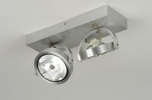 plafondlamp 71551: modern, design, aluminium, rond