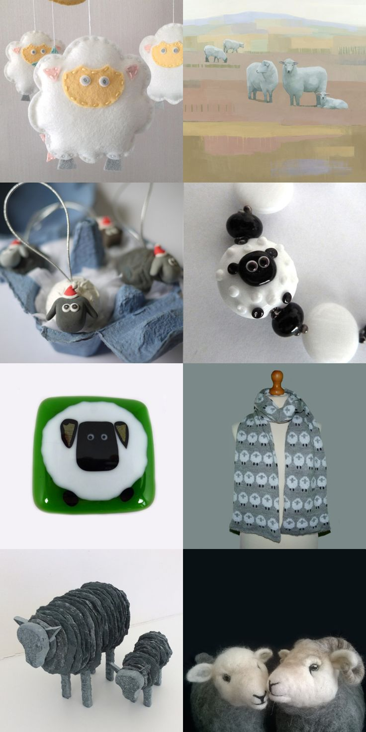 There are lots of handcrafted sheep roaming around this Folksy Friday by Silvana