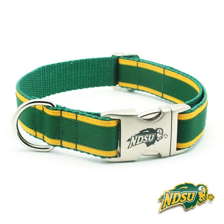 NDSU Bison Premium Dog Collar with Laser Etched Buckle