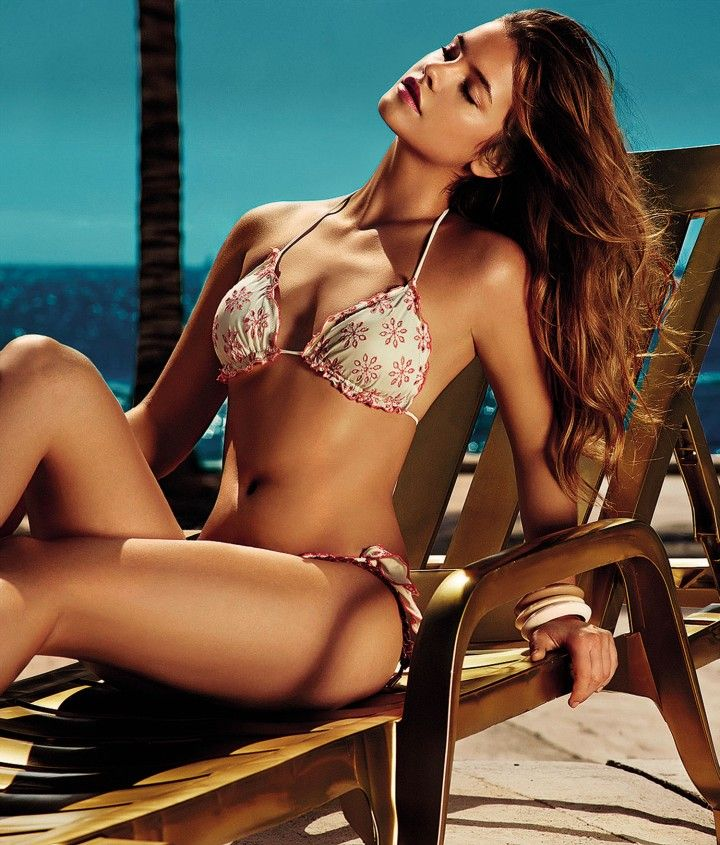 Barbara Palvin's Fabulous Twin Set Beachwear  2014 Photoshoot