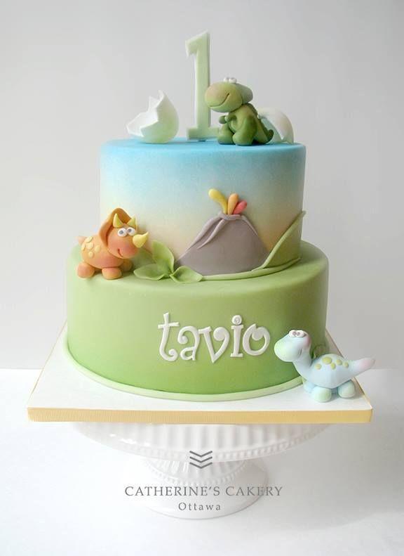 baby dinosaur cake with cracked egg Catherine's Cakery