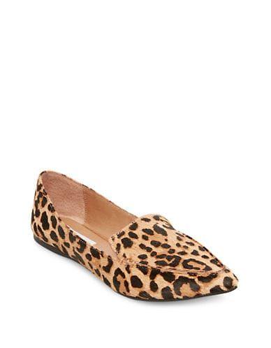 Sapatilhas de bico fino com estampa de penas de Steve Madden para mulher – Leopardo – Tamanho EUR 36 / US 5,5   – Products