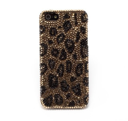Newsh Champagne Leopard Style Swarovski Element Crystal Cell Phone Cover Case for iPhone 5: Cell Phones #etsy #handmade #gift #quote #iphone case #christmas #case #craft #DIY