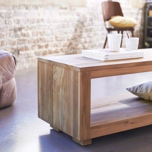 Table basse en teck – Tables basses 110x45 Anoa sur Tikamoon