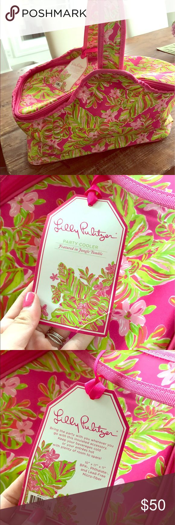 NWT Lily Pulitzer Cooler bag NWT Lily Pulitzer cooler. Perfect for summer!! Bags