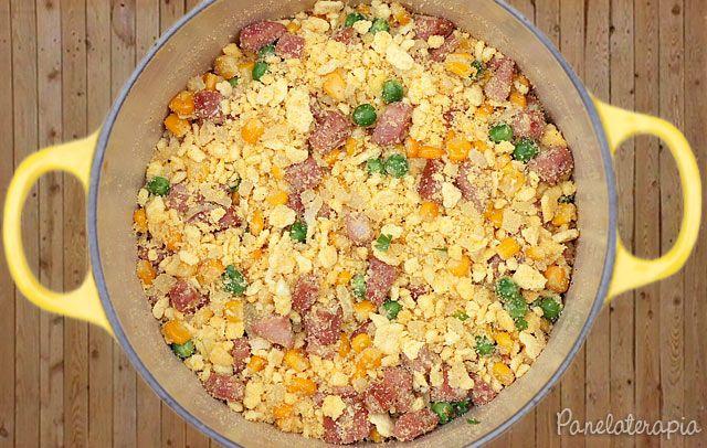 PANELATERAPIA - Blog de Culinária, Gastronomia e Receitas: Farofa de Calabresa