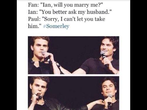 tvd, ian and paul hahaha