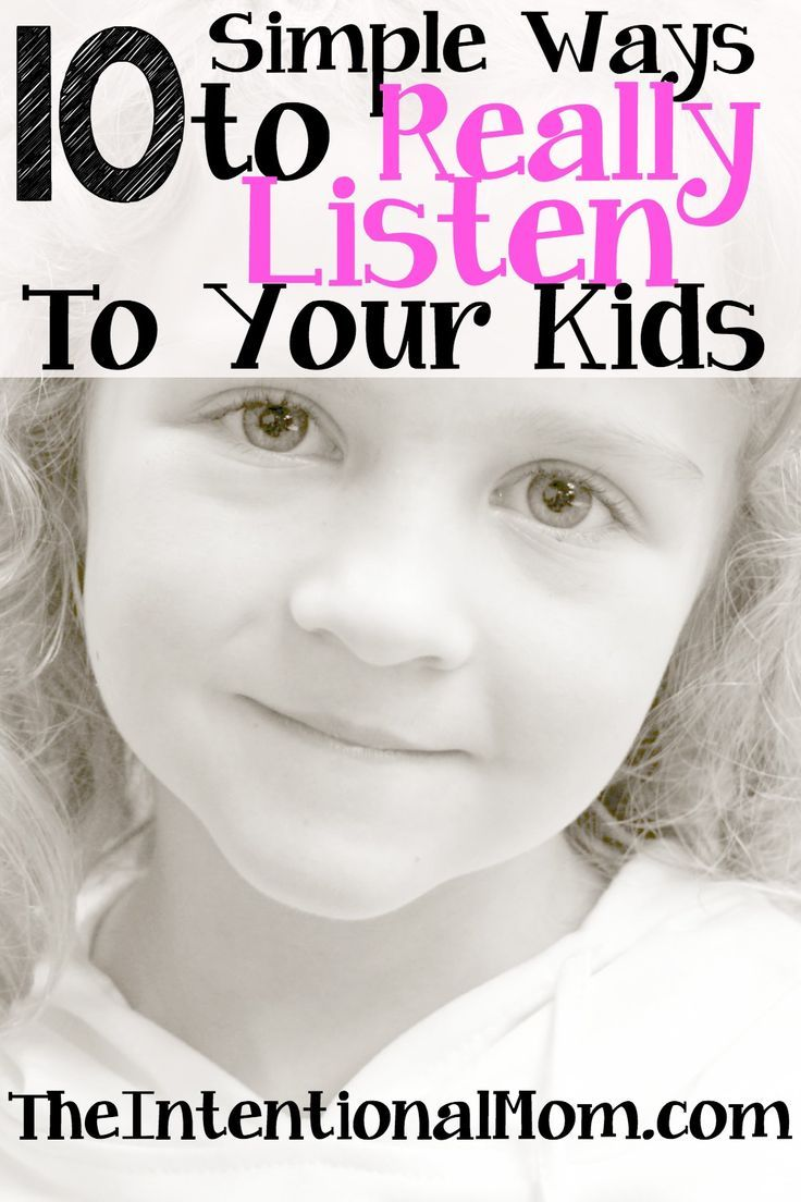 Are you looking for some simple ways to really listen to your kids? It is so easy to listen, but not really hear. Here are 10 ways that couldn't be easier!