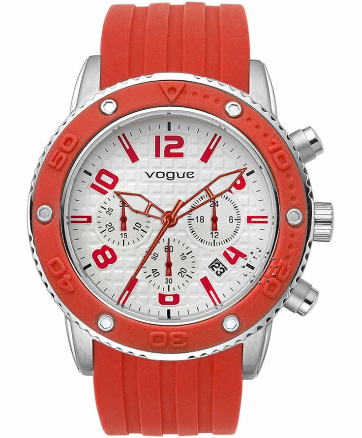 VOGUE Vivid Chronograph Orange Rubber Strap Μοντέλο:202017201.1 Τιμή: 165€ http://www.oroloi.gr/product_info.php?products_id=31633