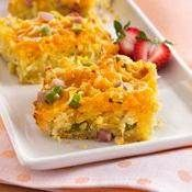 Ham, Pineapple and Cheddar Quiche recipe from Betty Crocker