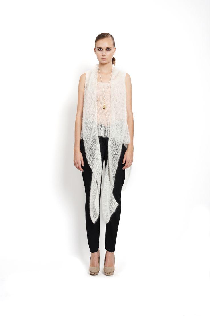 handknitted mohair and silk top, design Lucie Kutálková/ LEEDA