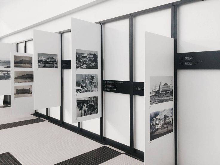 """""""HISTORY OF A MARINE STATION"""" EXHIBITION 2014 / temporal photo gallery in The Emigration Museum of Gdynia / designed by Grupa Gdyby / fot. M. Przychodzeń"""