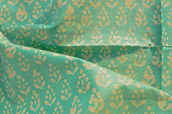 "5 Yd Cotton Fabric 44"" Wide Floral Print Sewing Apparel Dress Drape Indian Cloth"
