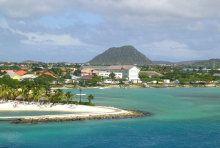 La isla de Aruba, antillas menores