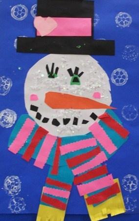 Snowman Winter Christmas Art Project
