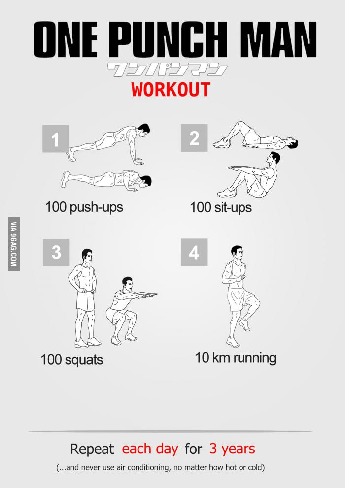 One Punch Man Workout