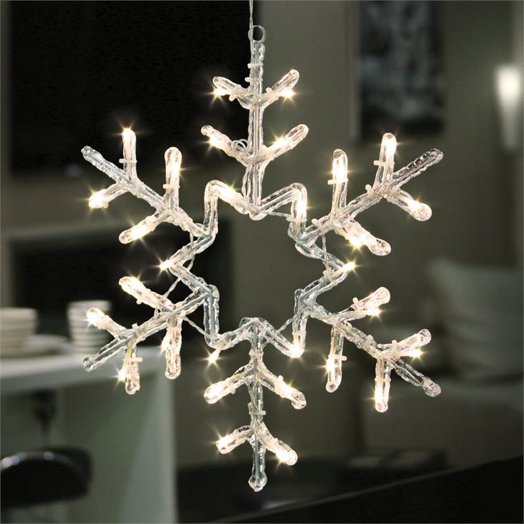 Lytworx 30 LED Festive Decor Battery Operated White Snowflake Light
