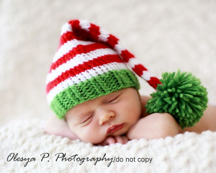 Download PDF knitting pattern k-17 - Newborn Stripe Stocking hat