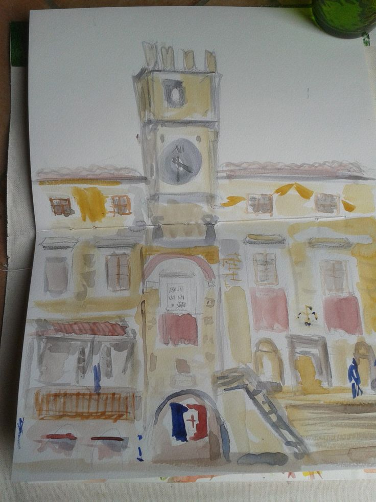 https://flic.kr/p/tQuT3W | 2015-06-14 13.23.58 | Work from a workshop in narrative painting ledby Niya Christine. Day 2 Painting from life - sitting at a cafe looking out on the streets of Cortona.