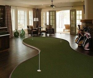 Not golf apparel, but had to throw this in! If only.....Golf - indoor putting green