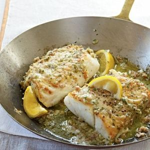 roasted cod with garlic butter by diana