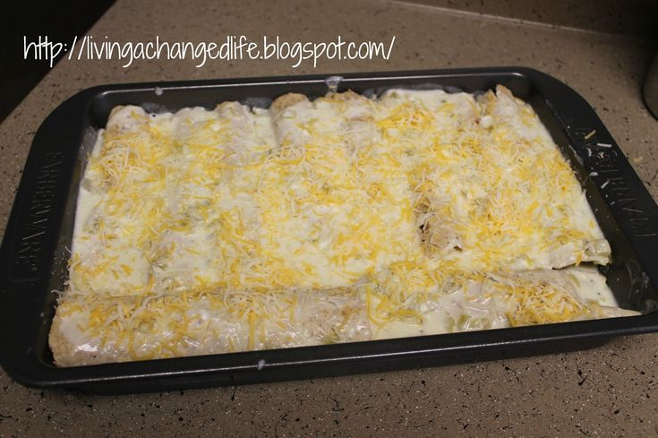 Living a Changed Life: Recipe Review: White Chicken Enchiladas