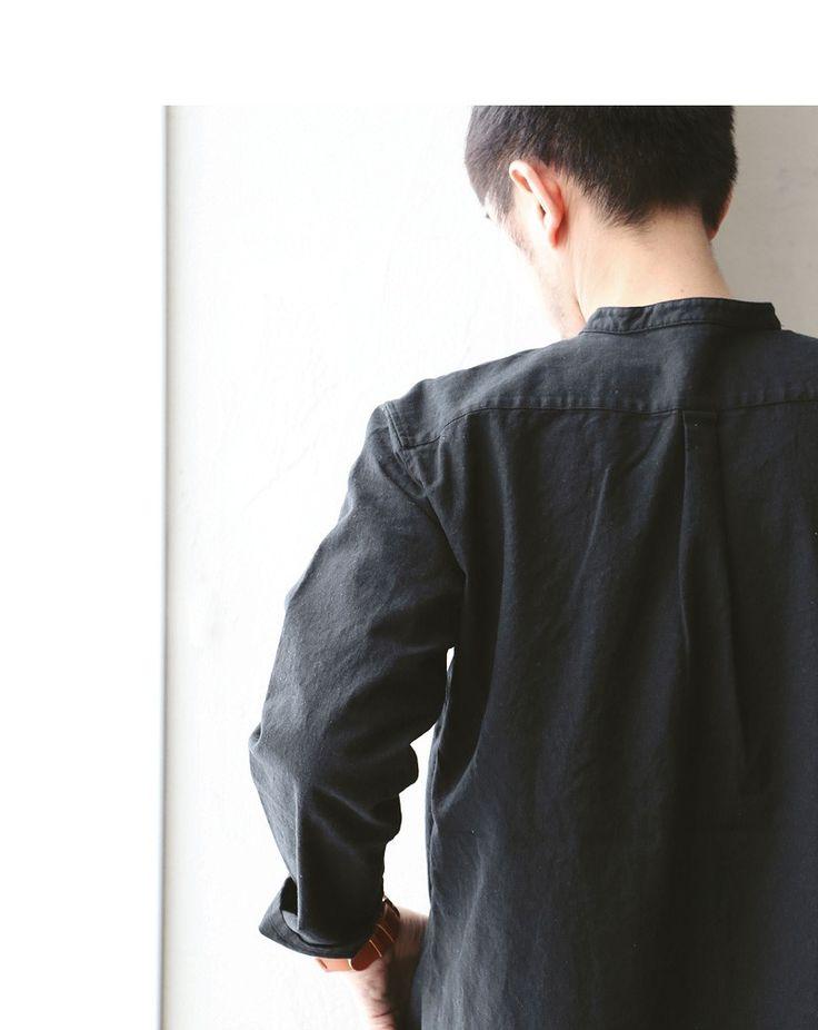 【楽天市場】【送料無料】 Audience [オーディエンス] 長袖 半端袖 シャツ バンドカラーシャツ プルオーバーデザイン コットンリネン生地 綿麻 日本製 ロング丈 メンズシャツ レディースシャツ ブラック 黒 春 春服 春物:PATY