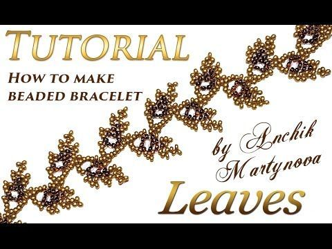 How to make Leaves bracelet with beads (spring, autumn, wedding)