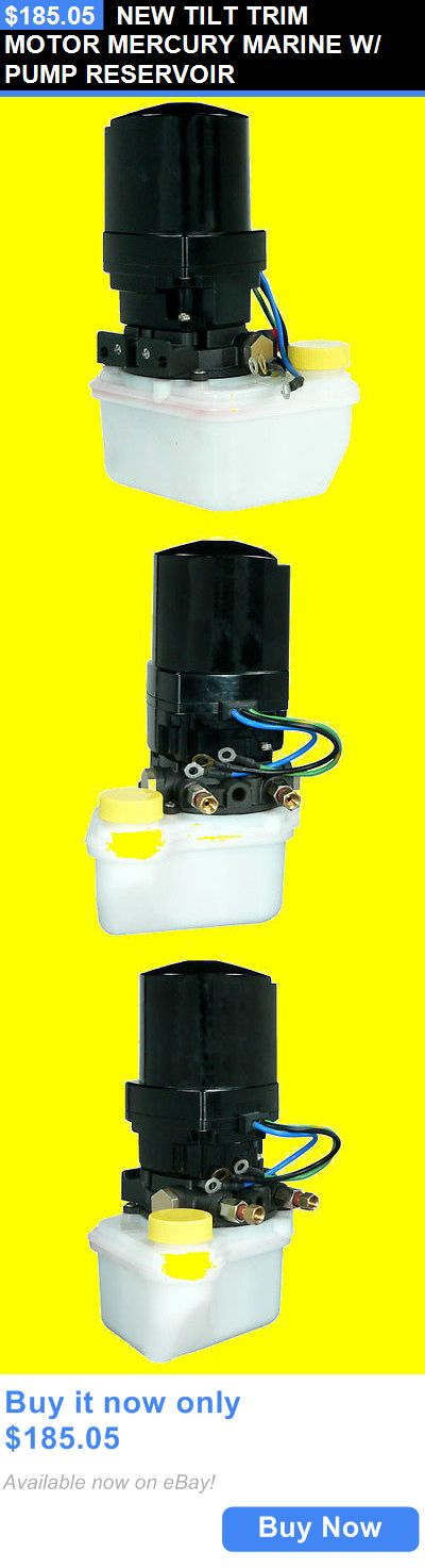 boat parts: New Tilt Trim Motor Mercury Marine W/ Pump Reservoir BUY IT NOW ONLY: $185.05