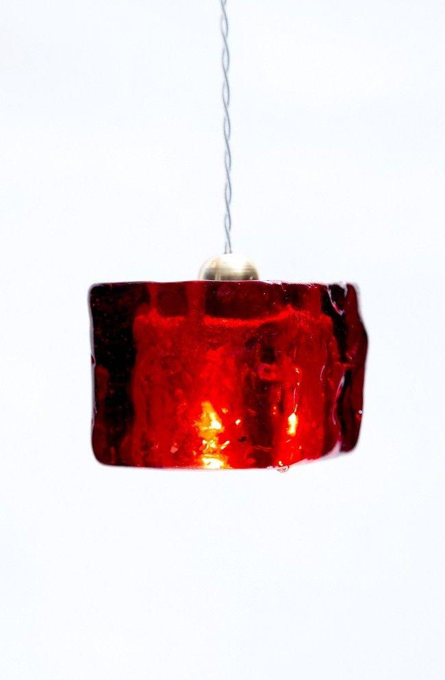 Red Ceiling Pendant Light Cube