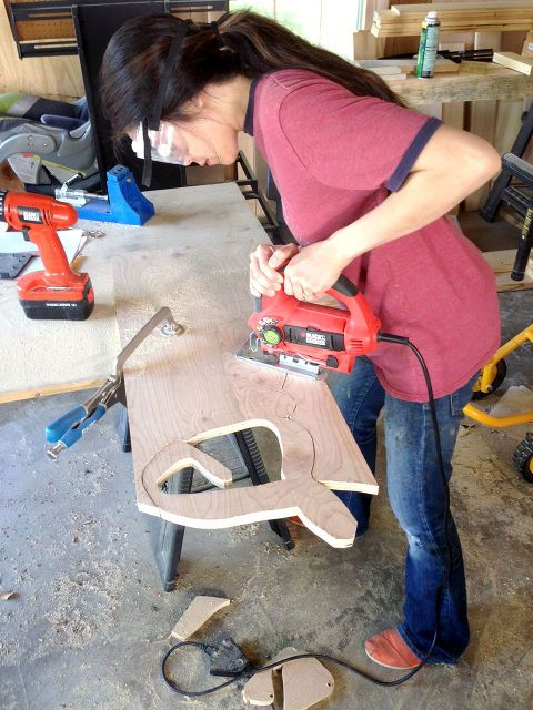 diy jigsawed wood signs, crafts, woodworking projects