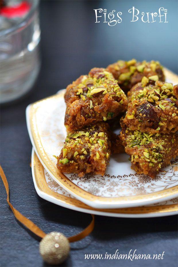 Anjeer+Mawa+Burfi+|+Figs+Khoya+Burfi+|+Easy+Diwali+Sweets+Recipes+~+Indian+Khana