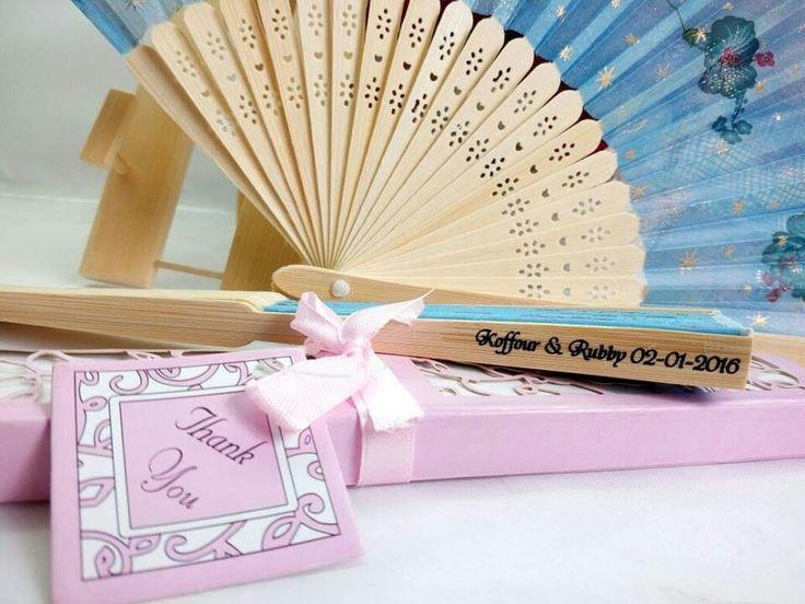 Personalised silk fan