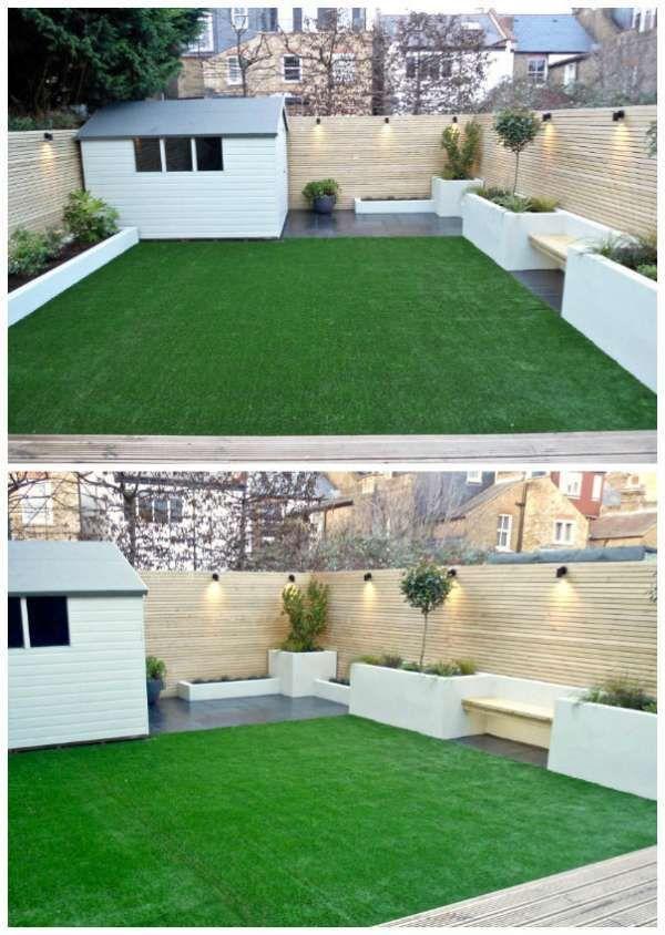 Petit jardin moderne avec cabane minimaliste.16 designs de jardins ...