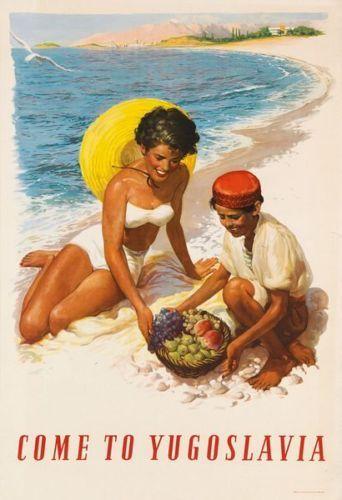 Vintage Come To Yugoslavia Tourism Poster A3 Print