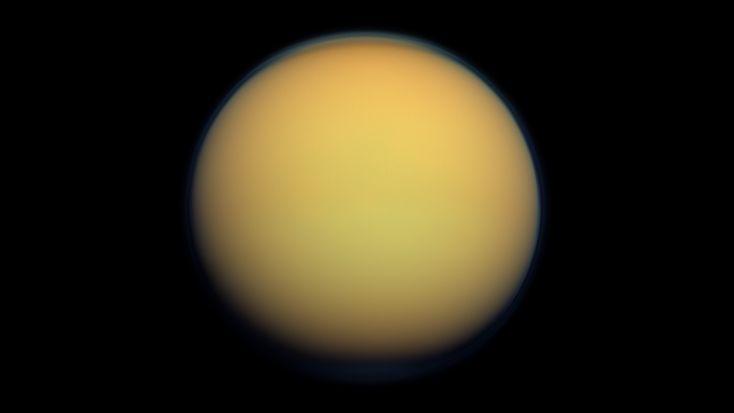 Titan pictured from the Cassini spacecraft