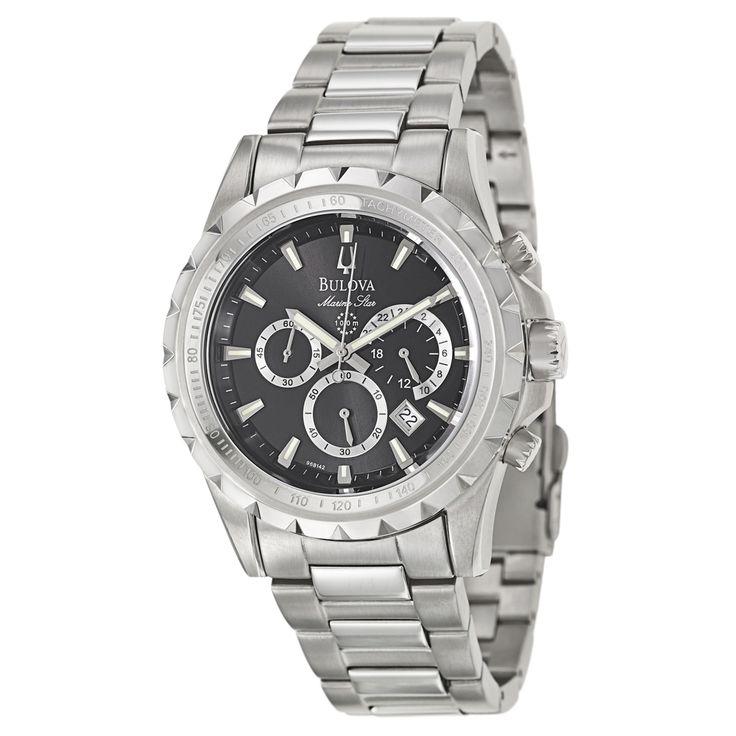 7/10 Bulova Men's 96B142 'Marine Star' Stainless Steel Chronograph Military Time Tachymeter Watch   Overstock™ Shopping - Big Discounts on Bulova Bulova Men's Watches