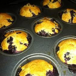 Muffins aux bleuets à 99 calories @ http://qc.allrecipes.ca