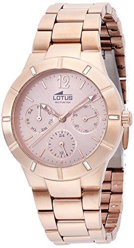 Lotus 15915/2 - Reloj de pulsera Mujer, Acero inoxidable, color Oro Rosa ✿ ▬► Ver oferta: https://cadaviernes.com/ofertas-de-relojes-para-mujer-lotus/