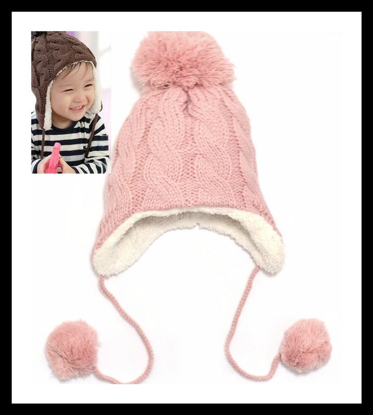 Warm earflap hat for babies