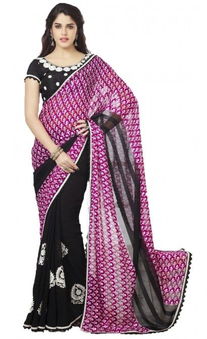 APARNAA BLACK EMBROIDERY WITH RED PRINT EXCLUSIVE BLOUSE. Rs.3,410