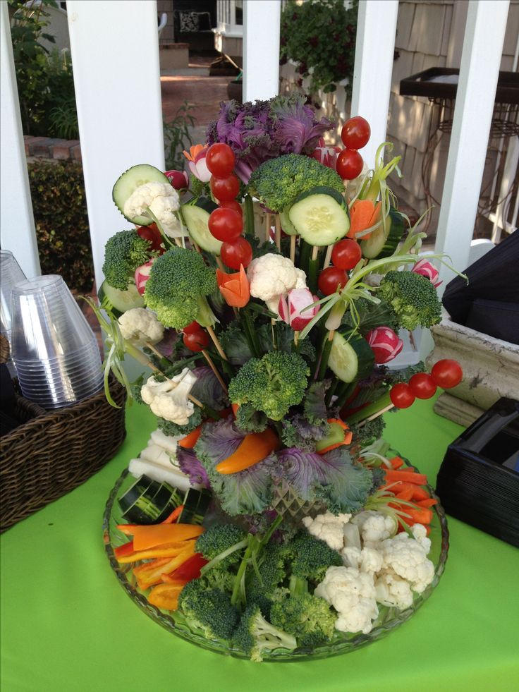 Gwen made this Edible vegetable bouquet that was a hit of the party!