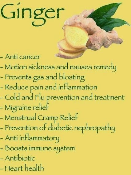 Ginger- health benefits . . .