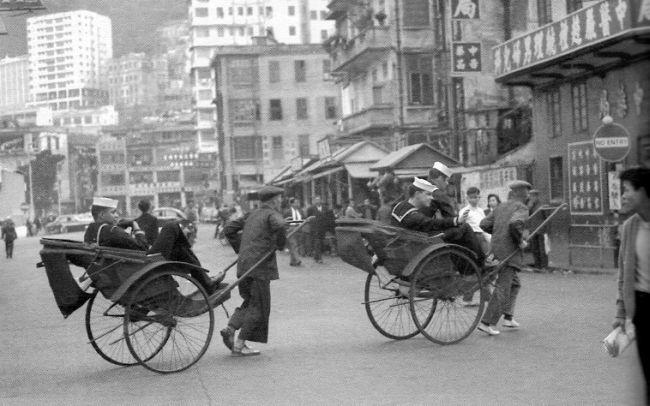 Rickshaw  History Pictures, History, Hong Kong-6441